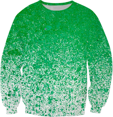 Green Specked Sweatshirt