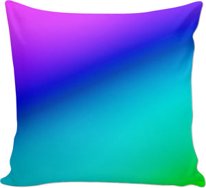 Purple Blue And Green Couch Pillow