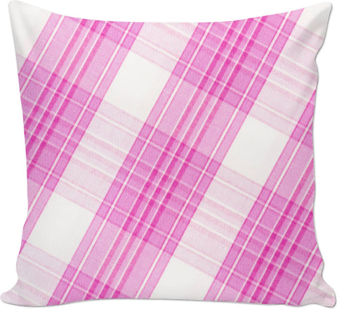 Pink Plaid Couch Pillow