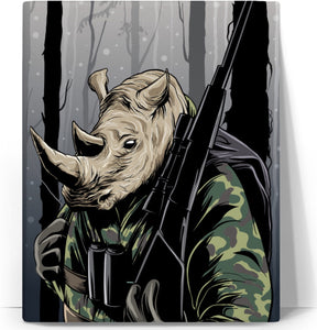 Rhino Hunter Canvas