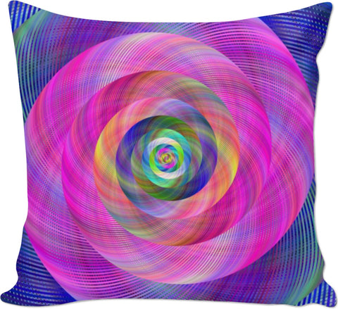 Pink Spiral Couch Pillow