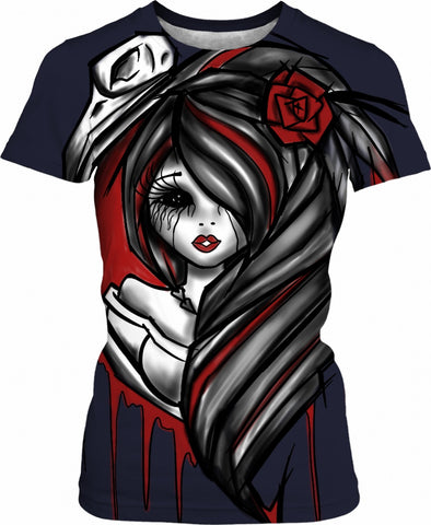 Gothic Doll 911trainwreck Women's T