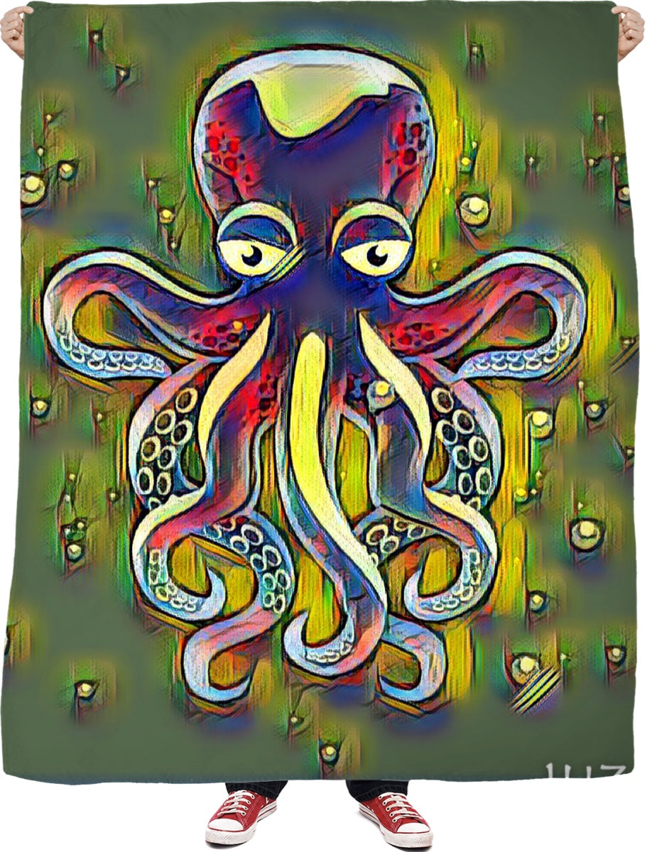 Octopus 2 Fleece Blanket