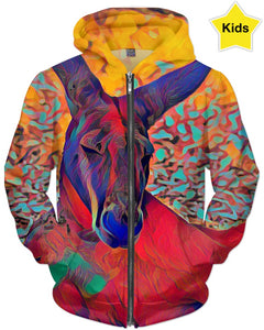 Kangaroo Colors Children's Hoodie