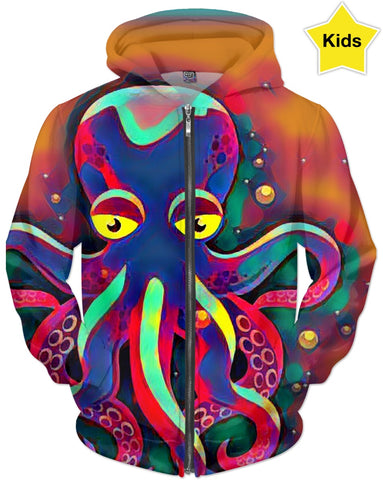 Octopus Colors Children's Hoodie