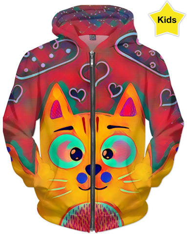Cat Colors Children's Hoodie