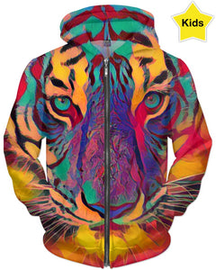 Tiger Face Colors Children's Hoodie