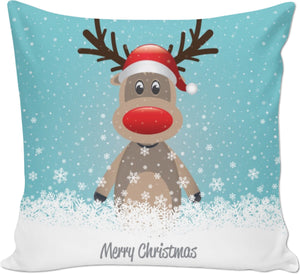 ROCP Rudolph Merry Christmas Couch Pillow