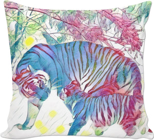 Tigers Love Couch Pillow
