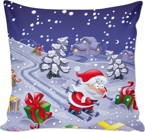 ROCP Downhill Santa Couch Pillow