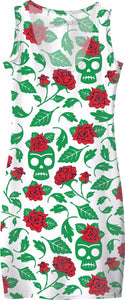 Frida Kahlo Skulls & Roses Simple Dress