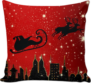 Santa In The Night Couch Pillow