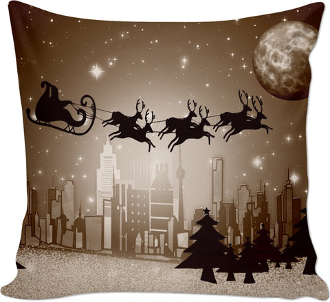 ROCP City Sky Santa Christmas Couch Pillow