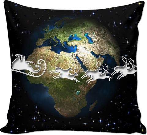 ROCP Santa Around The Globe Couch Pillow
