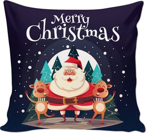 ROCP Santa's Reindeer Christmas Couch Pillow