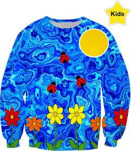 Blue Sky Summers Day Kids Sweatshirt