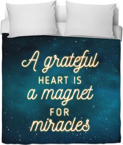 A Grateful Heart Duvet Cover