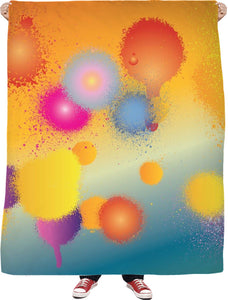 Paint Splatter Fleece Blanket