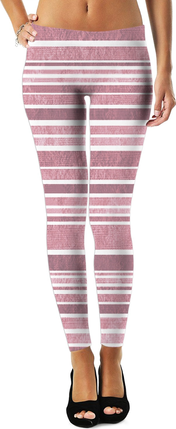 Pink Stripes Leggings