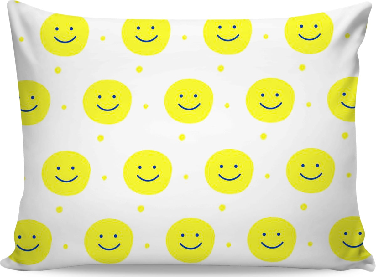 Smiley Face Yellow Pillowcase