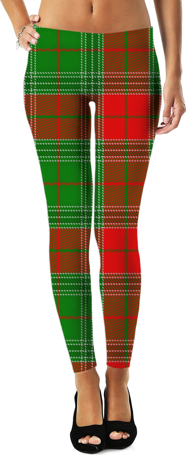 Lumberjack Christmas Plaid Leggings