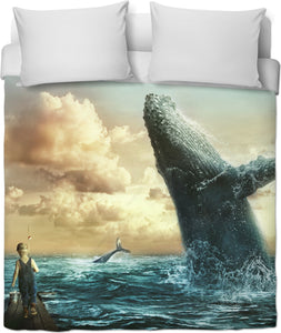 A Whale of a Day Duvet Cover