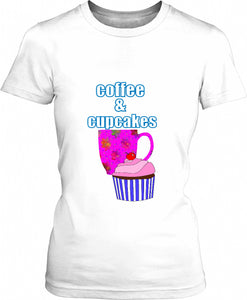 Coffee Break And Cupcakes Womens T-Shirt