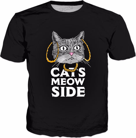 Cats Meow Side - Cash Me Outside Cat Parody T-Shirt