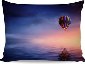 Hot Air Balloon Over The Ocean Pillowcase