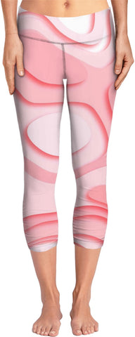 Pink Marbled Yoga Pants