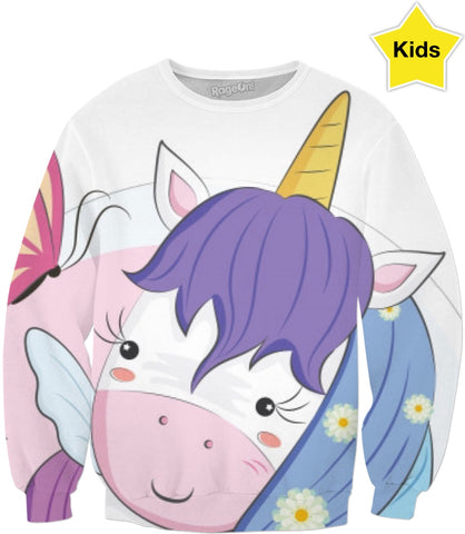 Unicorn And Butterfly Sweatshirt