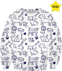I Love My Pet Children's Sweatshirt
