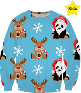 Pandas and Deer Children's Swearshirt