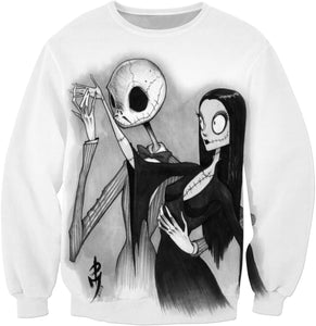 Addams Family Nightmare Before Xmas Sweatshirt