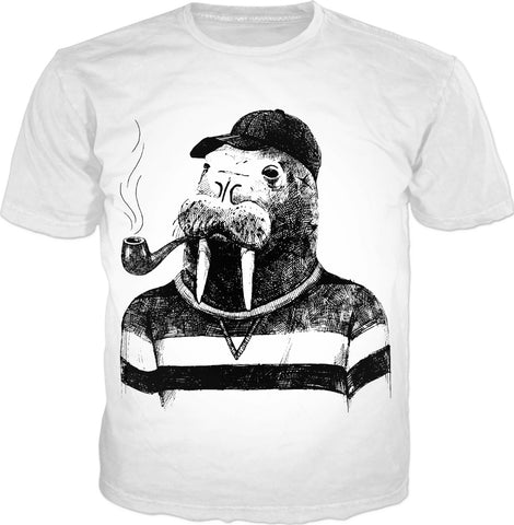 A Walrus and His Pipe T-Shirt