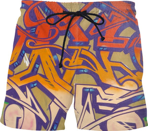 Graffiti 911trainwreck Swim Trunks