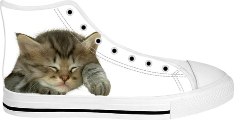 Sleeping Kitty High Top Shoes