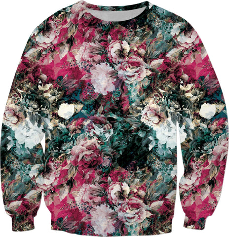 ABSTRACT ROSES Sweatshirt