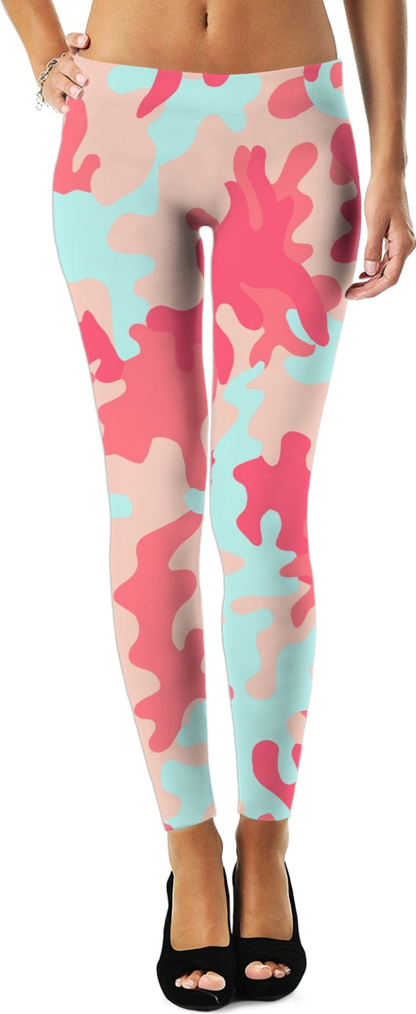 Pink and Teal Leggings