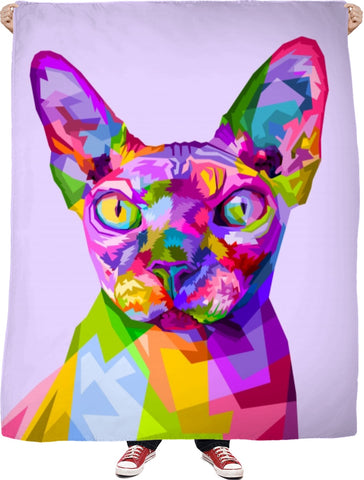 Hairless Cat Fleece Blanket