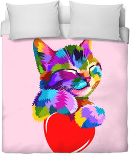 Kitty's Heart Duvet Cover
