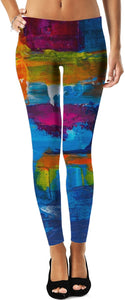 Acrylic All Over Leggings/Plus Sizes Available/XS - 5XL