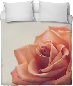 Peach Rose Duvet Cover