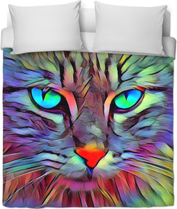 Blue Eyes Kitty Duvet Cover