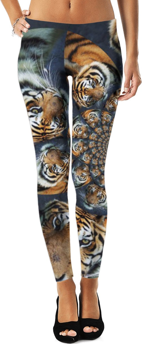 Tiger Fractal Leggings