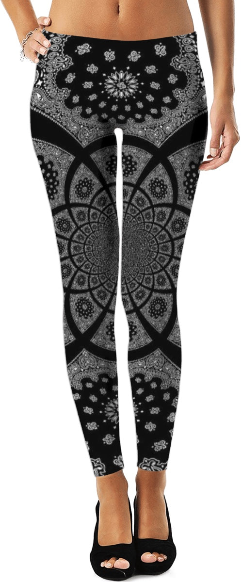 Bandana Fractal Leggings 2/Plus Sizes Available/XS - 5XL