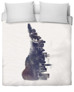 Fox from the city Duvet Cover