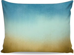 Brown to Teal Ombre Pillowcase