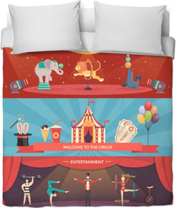 Welcome Circus Duvet Cover
