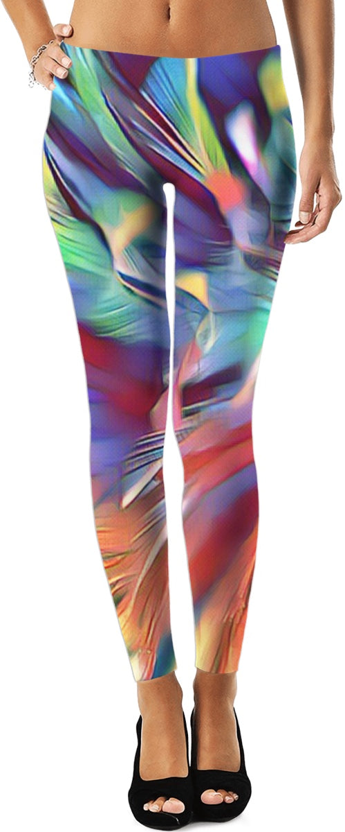 Colored Feathers Leggings 2